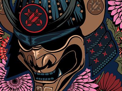 Ronin Brand - Emperor Illustration samurai bjj jiu-jitsu apparel branding illustration