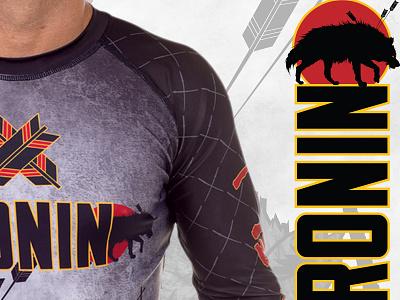 Ronin Brand - Lonewolf Illustration bjj jiu-jitsu apparel branding illustration
