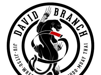 David Branch Gym Logo panther branding wrestling grappling logo design jiu-jitsu mixed martial arts brazilian jiu jitsu jiu jitsu bjj mma