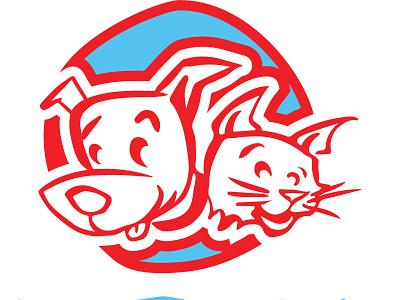 Peters Pet Supply Logo dog logo dog cat branding logo logo design