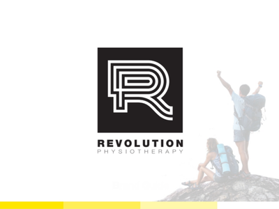 Revolution Physiotherapy logo design physiotherapy physical therapy branding logo