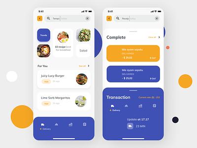 Online Food Delivery App design ux ui app