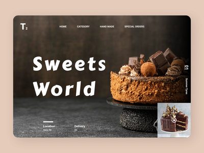 Sweets Online online designs news uiux uidesign new food app branding flat ux ui design