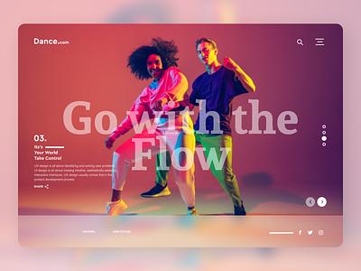 Dance Trainers online minimal art uiux typography branding new designs ux ui design