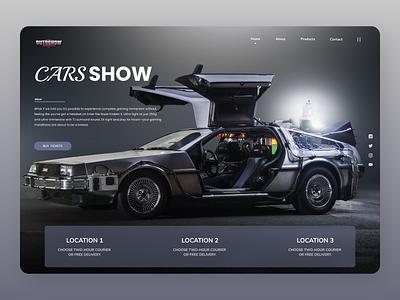 Cars landing page online shop branding online uidesign typography uiux new designs design ux ui