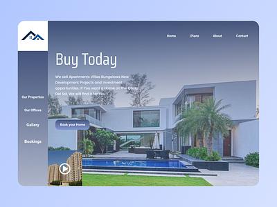 Home Booking Web Design branding typography web art ux ui design