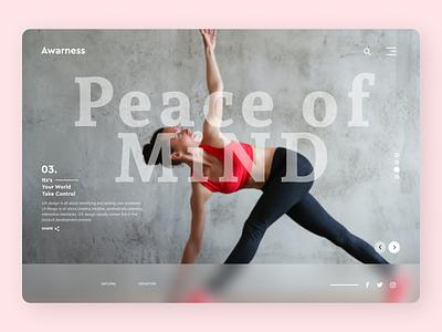 Yoga Trainer art new online typography web ux ui design