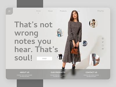 Fashion clothing branding newsletter trend minimal ui  ux uiuxdesign uiux fashion style online new web design ux ui