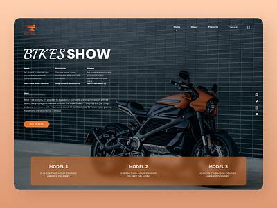Motor Bike LP minimal uiux branding online new typography web design ux ui