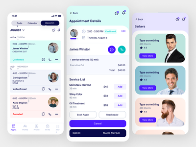 Online Management Consultants ux app design ui