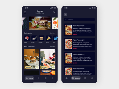 Food ordering App design ux ui app
