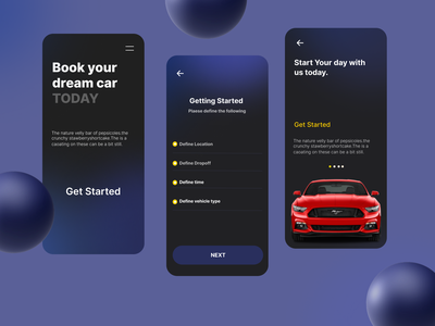 Car booking App cleardesign app design clear new uiux appdesign ux ui design app