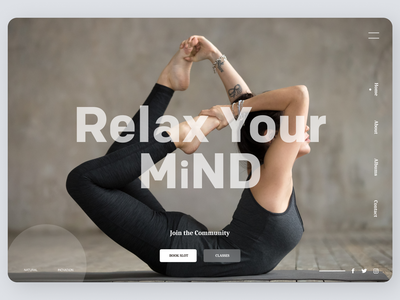 yoga Trainer websites web yoga fitness branding cleardesign clear ux ui design