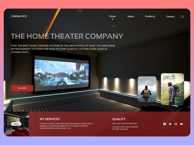 Home Theater minimal new branding uiux clear web cleardesign ux design ui