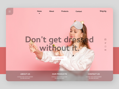 Beauty Products websites new branding uiux clear app web cleardesign ux ui