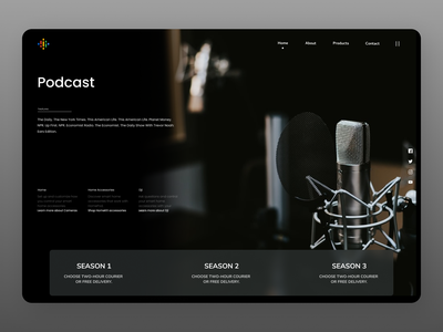 Podcast UI websites new branding uiux clear ui web cleardesign design ux