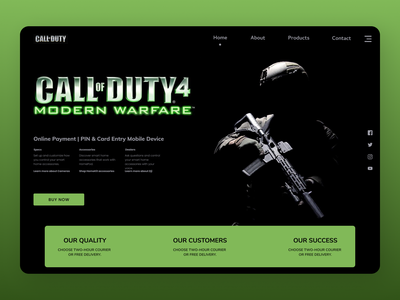 Call of duty Web branding websites new uiux clear web cleardesign ui design ux