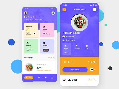 Food Delivery App design ux ui app