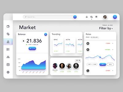 Market Management Dashboard website web branding illustration ux ui design app