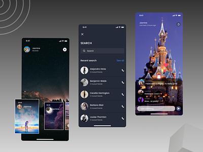 Social App uiux social media design social online newdesign new ux ui design app