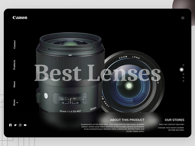 Online Lenses Landing Page social typography uiux website web online newdesign new branding ux ui design