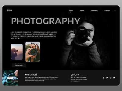 Photographer Web uiux web website online newdesign new design branding ux ui