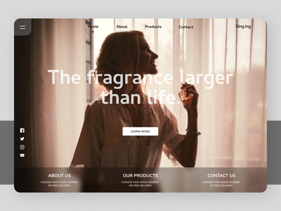 Perfumes Landing page social website web online new newdesign branding design ux ui