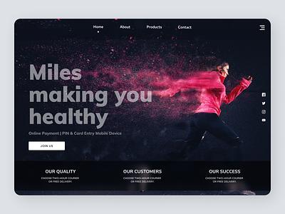 Fitness uiux website web online newdesign new branding ui ux design