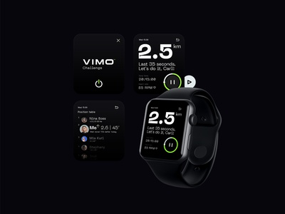 Fitness Watch Exercise App 3d innovation technology logo identity green app ios fitness app apple clock app exercise app