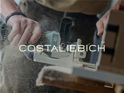 COSTALIEBICH ™   Exclusive design furniture brand identity exclusive artesanal brown visual design woodworking logo design logotype