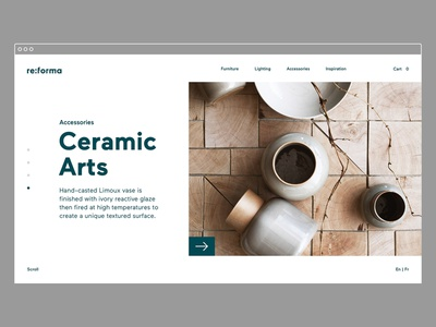 Reforma Studio – Featured logotype typography website identity brand identity art direction desktop e-commerce furniture store ux ui ui design ux design web design graphic  design branding
