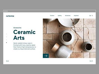 Reforma Studio – Featured logotype typography website identity brand identity art direction desktop e-commerce furniture store ux ui ui design ux design web design graphic  design branding