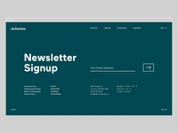 Reforma Studio – Newsletter Signup