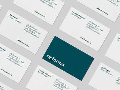 Reforma Studio – Business Cards logotype typography store logo identity graphic  design furniture business card branding brand identity art direction