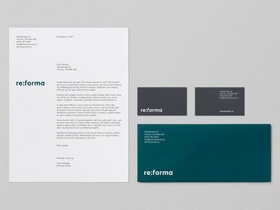 Reforma Studio – Stationery logotype typography stationery store identity graphic  design envelope letterhead business card furniture brand identity branding art direction