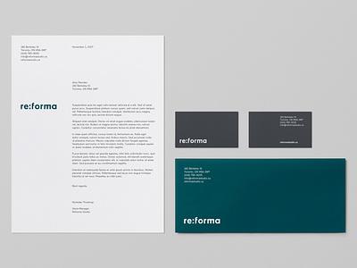 Reforma Studio – Stationery logotype typography stationery store identity graphic  design envelope letterhead business card furniture brand identity branding art direction