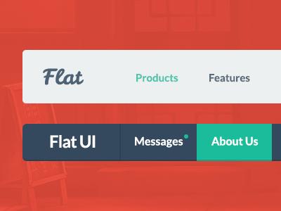 Flat UI Menu ui ui kit flat flat design psd icons retina web design menu