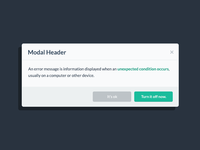 Modal Popup from Flat UI Pro