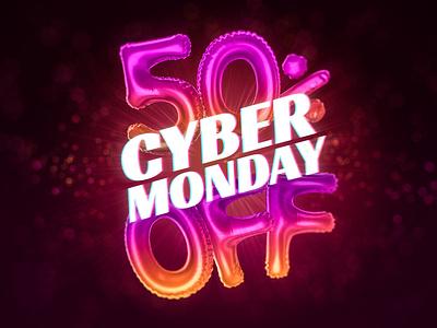 Cyber Monday 2018 Artwork for Designmodo's Deal 3d web design cyber monday