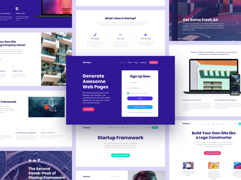 A Look Back at 2018. Our Plans for 2019 landing page website builder web design user interface ui kit ui