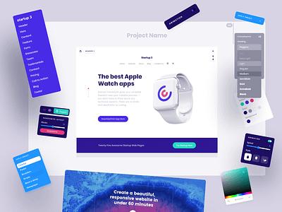 Startup 3 - Bootstrap builder ui web design figma website builder bootstrap startup