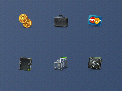 Business and e commerce icons set