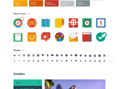 Flat UI Kit - Free PSD&HTML (Twitter Bootstrap) ui ui kit flat flat design psd free freebie icons retina twitter bootstrap
