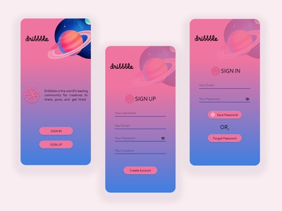 Sign Up Page Concept- Daily UI 001 app illustration graphic design