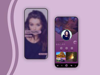 User Profile Concept - Daily UI 006 ui design dailyui app graphic design