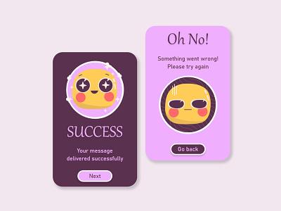 Flash Message - Daily UI 011 sticker flashmessage cancle error success message appdesign app ui graphic design design dailyui