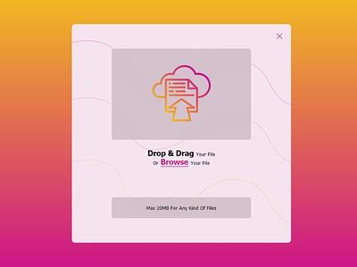 File Upload - Daily UI 031 dailyui031 fileupload upload file uiux ux webdesign web appdesign app ui graphic design design dailyui