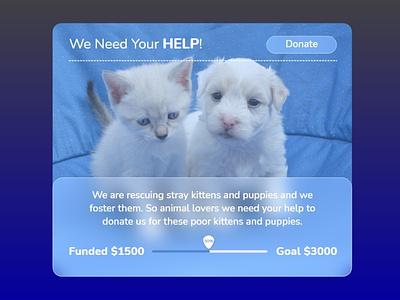Crowdfunding Campaign - Daily UI 032 dailyui032 crowdfundingcampaign campaign fund crowdfunding webdesign web uiux ux appdesign ui app graphic design design dailyui