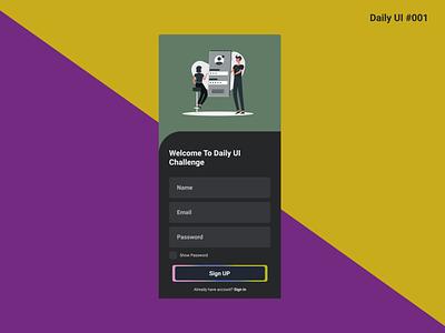 Sign up firstshot signup design ui daily ui dribbble dailyuichallenge dailyui