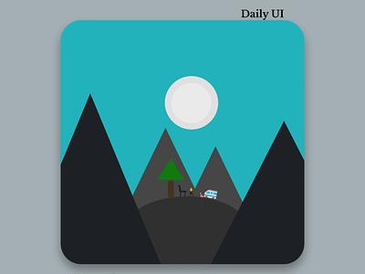 App icon vector logo trail himalaya dribbble icon app 005 dailyui